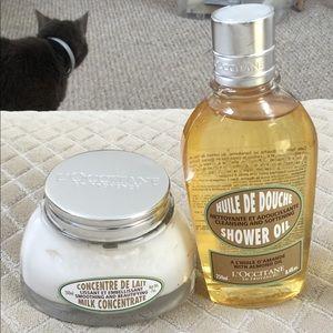 L'Occitane Milk Concentrate & Shower Oil